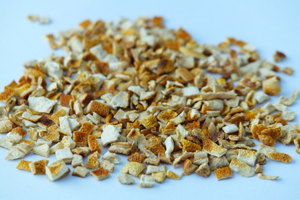 dried lemon peel coarse cut